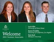 Welcome Summer Associates 2021